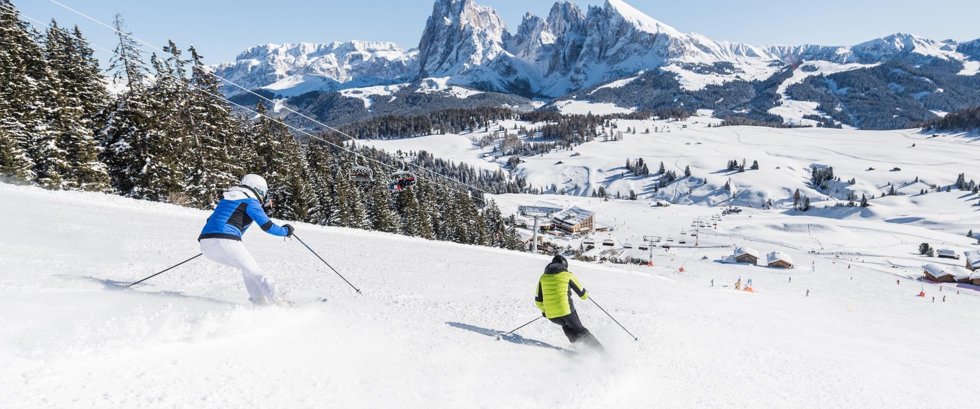 Alpe di Siusi - il migliore comprensorio sciistico in Trentino Alto Adige