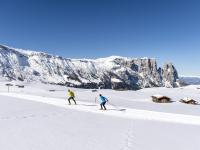 Cross-country holiday in the Dolomites