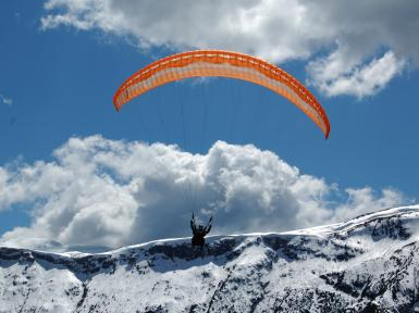 paragling-winter