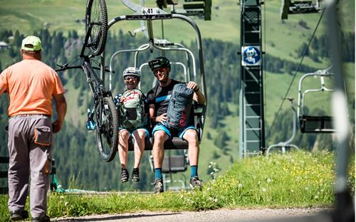 Seiser Alm summer lifts with bike transport - Bike South Tyrol