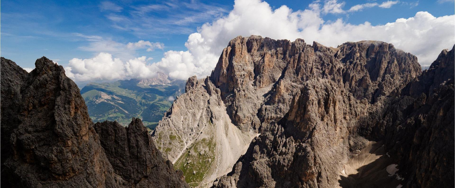 the dolomite mountains in Italy: Panoramic view