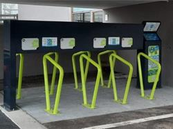 E-bike charging station at the bus station of Siusi