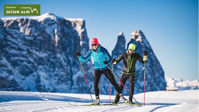 Seiser Alm - Cross-country-skiing in the heart of the Dolomites